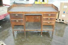 Antique 5' Industrial Age Factory Wood Wooden Workbench Table w/ Drawers