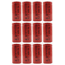 12PCS C Size 9500mAh 1.2V Ni-MH Rechargeable Battery RC Toy Radio Torch Pack Red