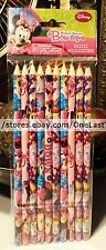 DISNEY MINNIE MOUSE 10 Pack BOW-TIQUE Color Pencils PINK+RED+PURPLE+BROWN+BLUE+
