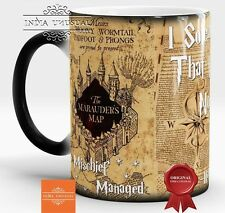 HARRY POTTER MARAUDERS MAP MISCHIEF MANAGED MAGIC COLOR CHANGING COFFEE MUG GIFT