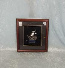 Framed Eastern Silver Model Of A Nile Sailing Dhow Boat