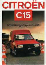 Brochure Depliant Citroen C15  in lingua Italiana