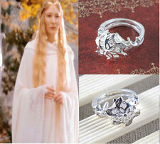 Lord of the Rings Galadriel Nenya White Gold & CZ Ring size 10