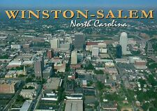 Aerial View of Winston-Salem, North Carolina, Downtown Buildings etc. - Postcard
