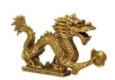 Chinese brass Dragon figurine Statue decoration
