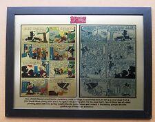 Disney Uncle Scrooge 1954 Printing Plate & Comic printed to 12 x 15 metal plate