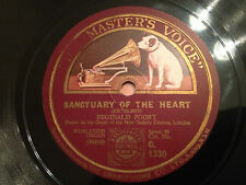 "REGINALD FOORT ""Sanctuary Of The Heart""/""In A Chinese Temple Garden"" 78rpm 12"""