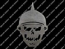 Small Helmet Skull Metal Stencil Hot Rat Rod Motorcycle Chopper Kustom Greaser
