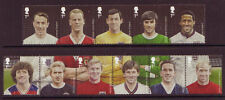 GREAT BRITAIN 2013 FOOTBALL SET OF 11 IN 2 STRIPS UNMOUNTED MINT.