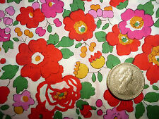 108cms x 137cms BETSY Liberty of London Tana Lawn fabric COTTON/CRAFT/QUILT/RED