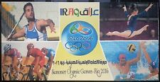 Iraq 2016 NEW Olympic Games Rio Special Official Folder with MNH Sheetlet & S/S