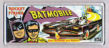 BATMAN BATMOBILE toy box art WIDE FRIDGE MAGNET - CLASSIC TOY MEMORIES!