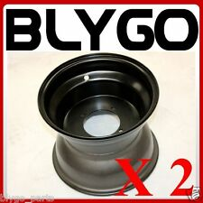 "2X Black 10"" Inch 90mm Hole 4 Stud Rear Back Wheel Rim Quad Dirt Bike ATV Buggy"