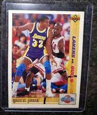 Michael Jordan 91 92 Upper Deck Classic Confrontation Magic Vs Jordan Card #34!
