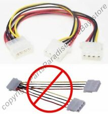 "Lot10 8""in CD/HD Drive Power Y Splitter 4pin Male~Dual Female Adapter Cable/Cord"