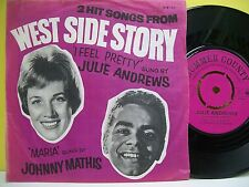 "7"" VINYL SINGLE. West Side Story I Feel Pretty - Julie Andrews, Maria - Mathis"