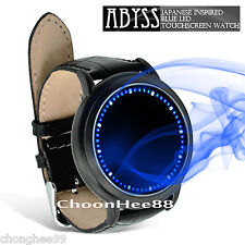 New LED Watch Abyss Japanese Style Inspired Blue Light Touch Screen Unisex Black