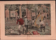 Advertising Publicity Pub Railway Japan Russo-Japanese War 1905 ILLUSTRATION