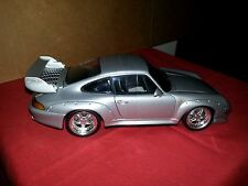 Diecast 1:18 UT model car in silver Porsche 911 GT2
