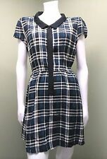 *Forever 21* Multi-Colored Plaid Dress W/ Peter- Pan Collar~ Size L
