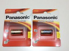 CR123A PANASONIC LITHIUM BATTERY 3 VOLTS  2 PACKS EXPIRY 2026