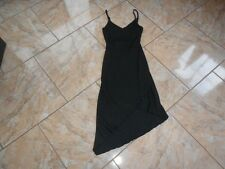 EB032 Clockhouse Stretch Sommer Zipfel Kleid S Schwarz Ohne Muster Gut