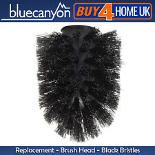 Blue Canyon Black Toilet Brush Head Replacement for Toilet Brush Holders
