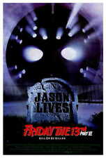 FRIDAY THE 13TH PART 6 JASON LIVES Movie POSTER 27x40 Thom Mathews Jennifer