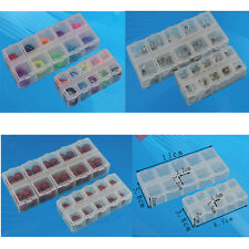 10 Slots Plastic Box Jewelry Bead Storage Container Craft Organizer Small Clear