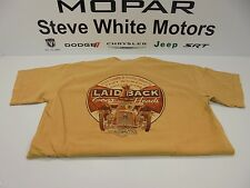 Laid-Back USA T Shirt Gables Fink Rat Rod Gear Heads Ford Monarch Yellow XL