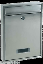 CASSETTA POSTALE QUADRA INOX, ALUBOX - 29QUADRAIX - MADE IN ITALY