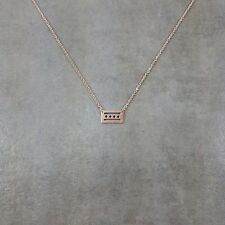 Chicago City Flag Rose Gold Plated Necklace Gift Box Dainty Love Womens Jewelry