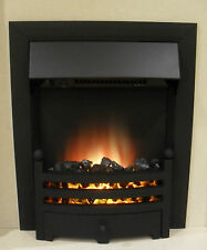 ELECTRIC BLACK REMOTE CONTROL MODERN FIREPLACE FLAME INSERT INSET FIRE 2kW