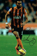 Ahmed ELMOHAMADY Signed Autograph 12x8 Football Hull City Photo AFTAL COA