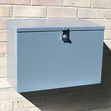 Large Outdoor Lockable Letterbox/Parcel Box/Home Delivery/Secure Postbox Grey