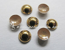 1440 Hotfix  Metall Dome Studs Halbperlen  3mm Gold Hochglanz Karostonebox