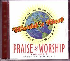 Worlds Best Praise Worship Vol 3 Long Play CD Classic Great Christian Pop Hymns