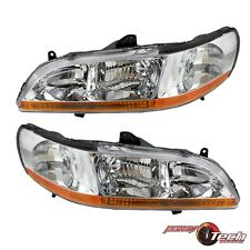 98-00 Honda Accord Headlights Headlamps Pair Set (LH/RH)