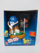 M&M M&M's Puttin GOLF BLUE dispenser with BOX IN STOCK  FREE SHIPING