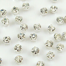 100x GRADE A Sew On Cut Glass Crystals Rhinestones Diamantes - Craft - Free P&P