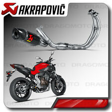 COMPLETE EXHAUST AKRAPOVIC YAMAHA MT 07 2014 14 2015 15 CARBON RC