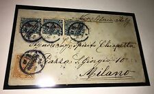 China 1912 Coiling Dragon Ovpt Cover To Milan Via Siberia,Hankow Moukden Dater