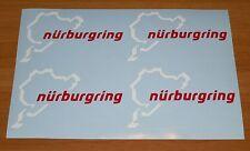 KIT 4 adesivi NURBURGRING decal sticker ritagliato NB pista moto racing GERMANY