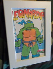 VINTAGE 1990 TEENAGE MUTANT HERO TURTLES incorniciato stampa cartolina