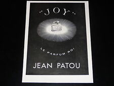 PUBLICITE -  PARFUM - JOY - JEAN PATOU -  1937 - PRESSE - ADVERTISING