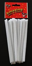 Pipe Cleaners Chenille Stems 150mm x 4 mm Assorted Colours White or Black 50pcs