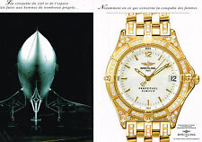 PUBLICITE ADVERTISING 074  1998  BREITLING collection montre  SIRIUS ( 2 pages)