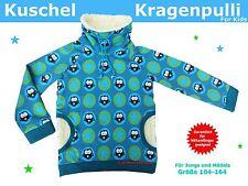 Kuschel-Kragenpulli/Sweater für Kinder nähen, Schnittmuster und Nähanleitung