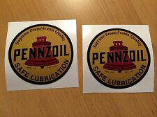 2x PENNZOIL Aufkleber Sticker Oil Gasoline vintage Old School Retro Tuning Kult