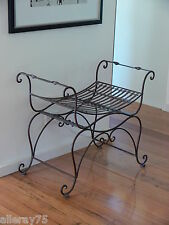FRENCH  CHAIR stool ottoman SEAT  WROUGHT IRON  BEAUTIFUL QUALITY NEW